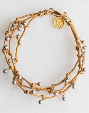 Bracelet G Gray Pearl 3 Strand Lt 110-1