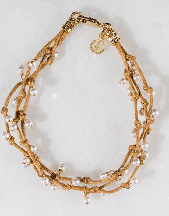 Bracelet G Wt Pearl 3 Strand 109-1