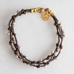 Bracelet G Wt Pearl 3 Strand Dk 111-1